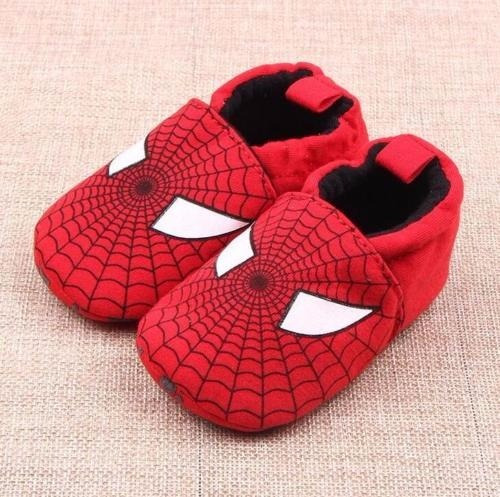 Pantufa Para Bebê Primeiros Passos Homem Aranha - Meninos.