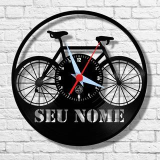 Bicicleta Personalizado Disco Relógio Vinil Arte No Lp