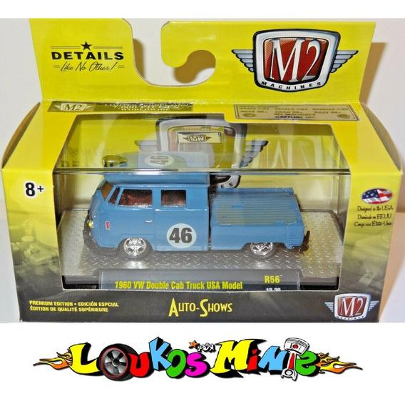 M2 1960 Vw Double Cab Truck Usa Model Kombi R56 Lacrado 1:64