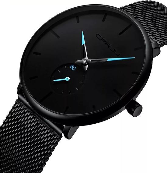 Relógio Masculino Casual Ultra Fino A Prova D