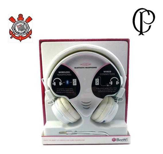 2 Fone De Ouvido Bluetooth Beewi - Branco - Mega Promoção