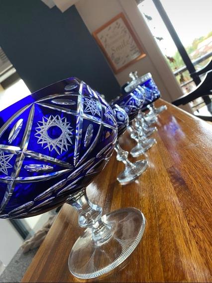 Antiguo Juego De Bowls De Cristal