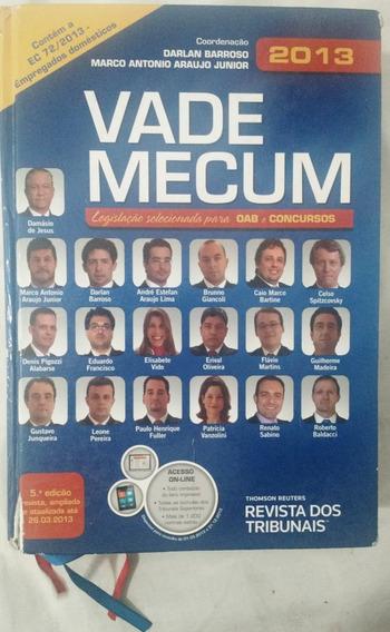 Livro-vade Mecum - 2013 Oab E Concursos - 5º Edição - Usado