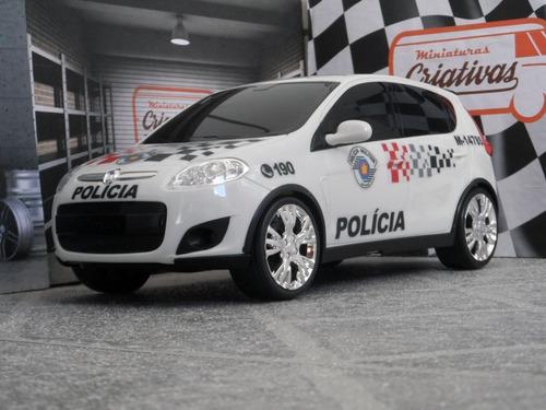 Miniatura Viatura Fiat Palio Polícia Militar Pm Sp - Atual