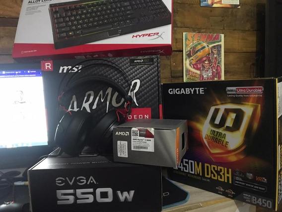 Pc Gamer Completo Rx 570 4gb , R5 3600, 24gb Ram Completo