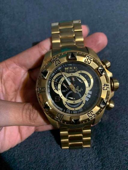 Relógio Invicta 80624 Reserve Banhado Ouro 18k Original