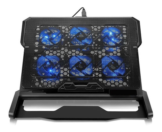 Base Cooler Pad C/ 6 Cooler Led Notebook Laptop Oletech