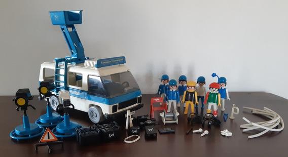 Playmobil Estúdio E Furgão Tv Trol