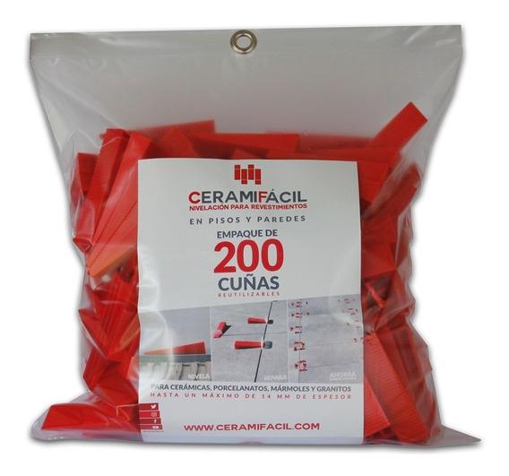 Kit Nivelador De Porcelanato Y Cerámica 200 Cuñas