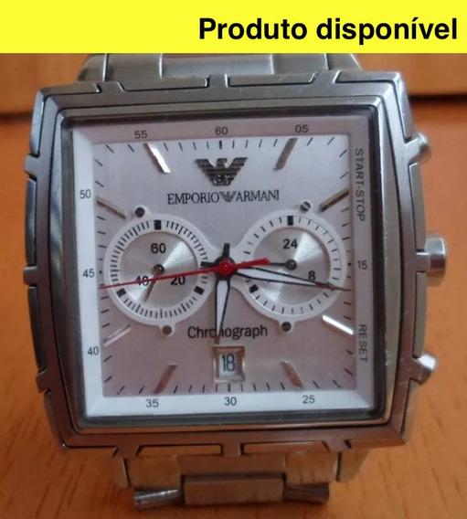 Relógio Emporio Armani Original 2011 N Y C Raro Estado