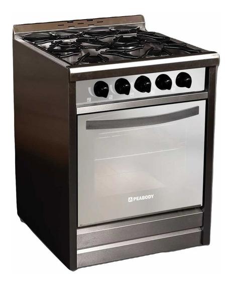 Cocina Industrial A Gas Peabody Pv600 60cm 4 Hornallas