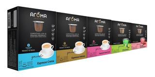 50 Cápsulas Para Nespresso - Café & Chá - Cápsula Aroma.