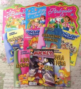 Kit Com 10 Livros Infantis Contos Clássicos,folclore E Gibi