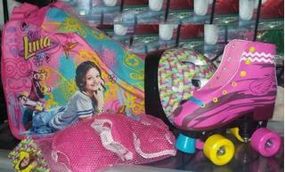 Patines Soy Luna + Kit De Protección Y Tula