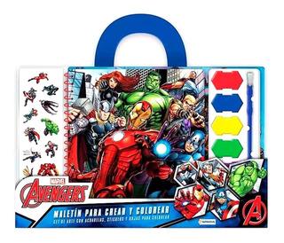 Valija Didactica Avengers Marvel Crear Colorear New Bigshop