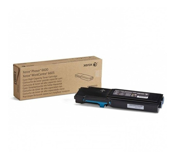 Toner Xerox 6605 Workcenter 6600 Phaser Cyan 106r02233