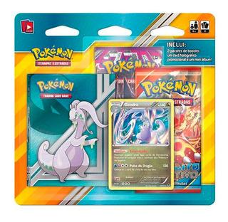Blister Pokémon 2 Booster Mini Álbum Card Goodra Holográfico