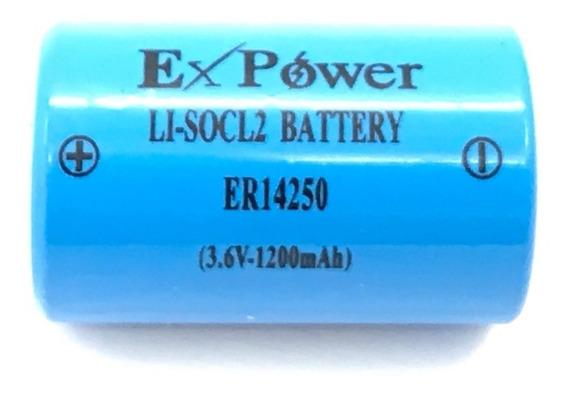 Bateria Lithium Er14250 1/2aa 3,6v 1200mah Ex-power
