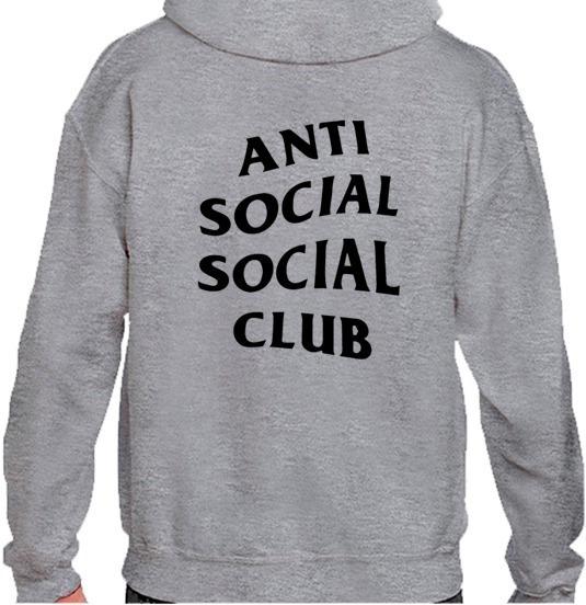 Hoodie/sudadera Anti Social Club Envío Gratis Varios Colores