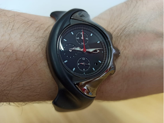 Relógio Oakley Detonator Preto E Fibra De Carbono