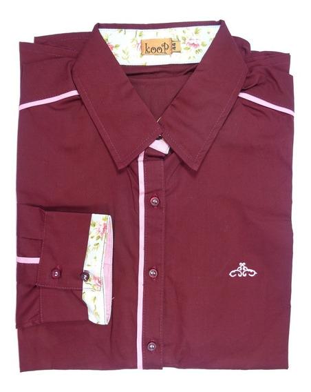 Camisa Feminina Manga Longa Koop 38 40 44