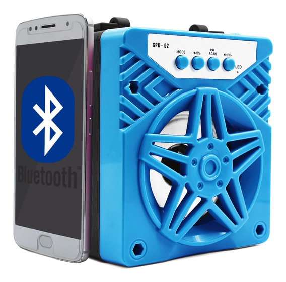 Kit 2 Caixa Som Bluetooth Amplificada Rádio Fm Usb - Atacado