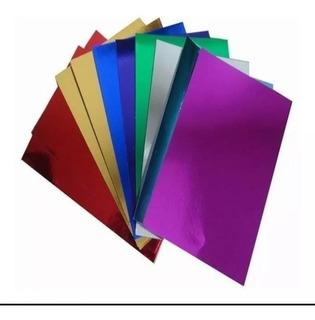 Cartulina Metalizada Para Tarjeteria Pliego 50x70 X 5 Unds