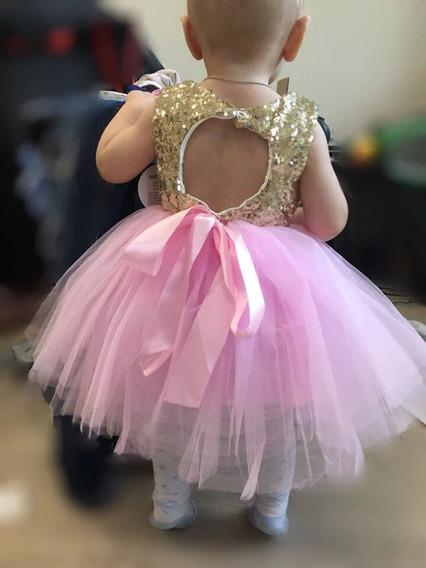 Vestidos Festas Bebê Aniversario Casamento 3 Meses A 5 Anos