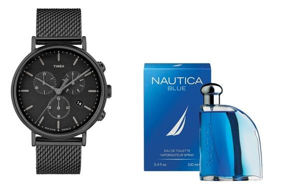 Reloj Para Caballero Timex Tw2r27300 Mas Perfume Envio Grati