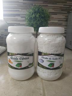500 Gr Clorito De Sodio Y 500 Gr Acido Cítrico - Para Mms