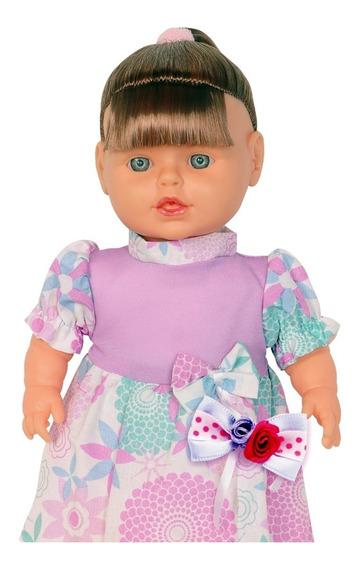Boneca Bebê Isadora Com Cabelo - Adijomar
