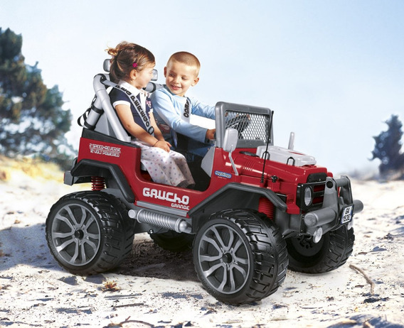 Buggy Mini Veiculo Pick-up Elétrica Gaucho Grande Red Peg