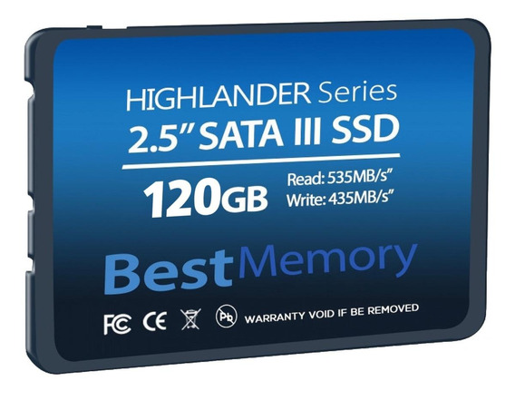Disco sólido interno Best Memory Highlander Series BTSDA-120G-535 120GB