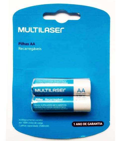 Pilha Recarregavel Aa Multilaser Cb053 Com 2 Un 2500 Mah