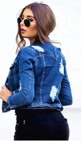 Jaqueta Jeans Destroyed - Coleção Outono/inverno 2019
