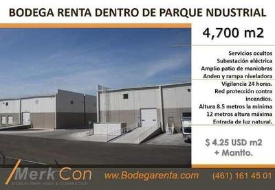 Bodega Renta 4700 M2 Parque Industrial En Salamanca Gto, Mexico