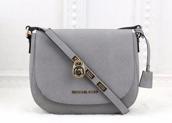 Bolsa De Luxo Mk Large Hamilton Saffiano Leather Messenger