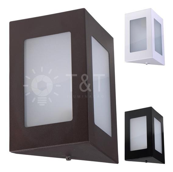 Arandela Triangular Externa Em Alumínio E Vidro