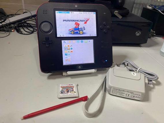Nintendo 2ds 8gb Com Mário Kart E Mario Paper