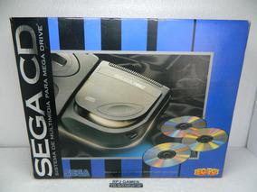 Sega Cd C/ Caixa Papelão Interno Manual Jogo Fonte Excelente