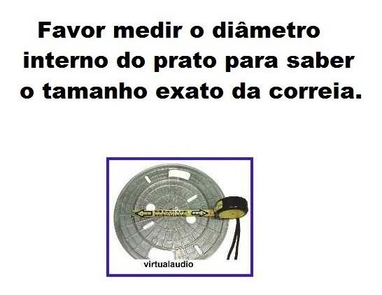 Correia Para Toca Discos Gradiente Cce Sony Sharp Polyvox
