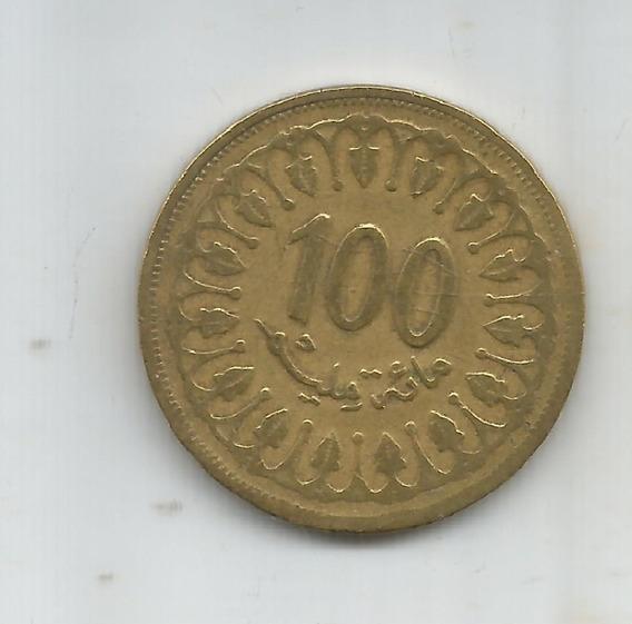 M 4798 Tunez Moneda 100 Milliemes 1997