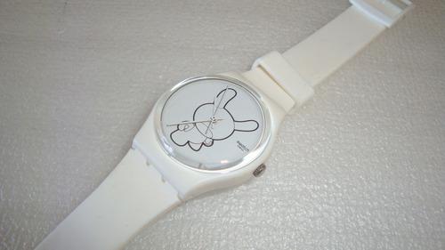 Relogio Quartz Kidrobot Ed Limited Swatch - Usado No Estado