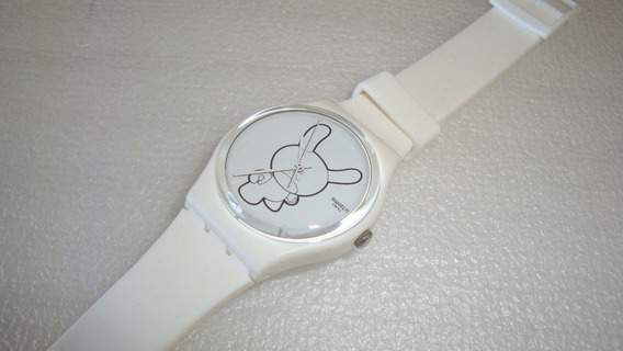 Relogio Quartz Kidrobot Ed Limited Swatch - Usado No Estado
