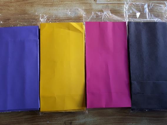 10 Unidades Bolsitas De Papel Varios Colores Lisos