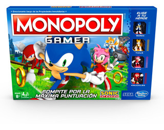 Juego De Mesa Monopoly Gamer Sonic