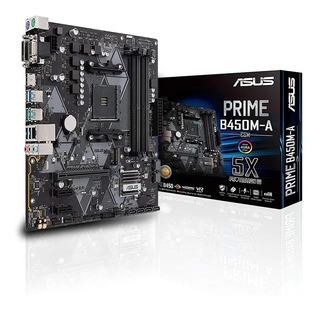 Motherboard Asus Prime B450m-a Amd Am4 Ryzen Ddr4 Nvme Matx