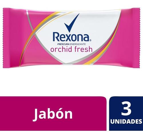 Rexona Jabón En Barra Orchid Fresh 3x125g