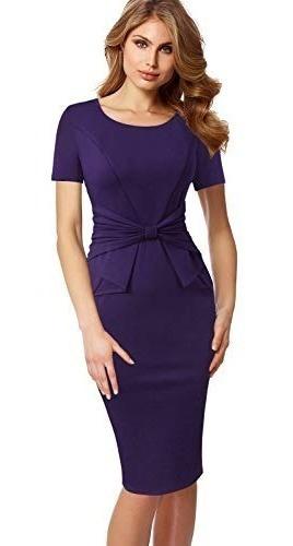 Vestido Para Fiesta Trabajo Iglesia Negocios Elegante Morado