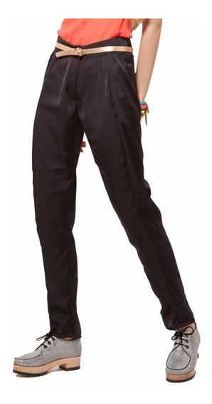 Pantalon Seda Negro. Nuevo